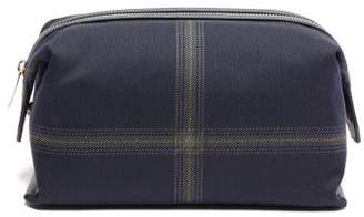 Paul Smith Checked Twill Wash Bag - Mens - Blue