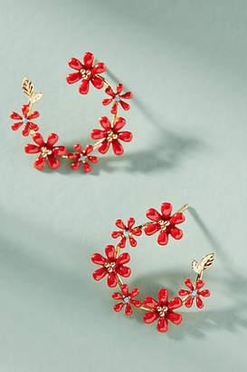 Anthropologie Honolulu Mini Hoop Earrings