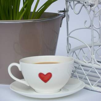 14f3316252 Dimbleby Ceramics Fine Bone China Heart Cup And Saucer
