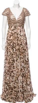 Alberto Makali Sequined Evening Dress
