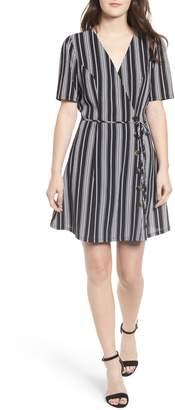 Speechless Button Front Wrap Dress