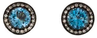 Aquamarine & Diamond Earrings yellow Aquamarine & Diamond Earrings