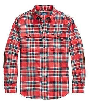 Polo Ralph Lauren Men's Twill Long-Sleeve Plaid Sport Shirt