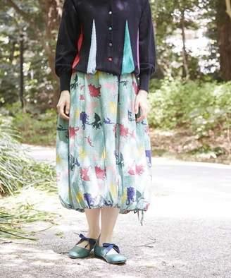 Jocomomola (ホコモモラ) - Jocomomola DRAGONES PT ドラゴン柄 裾ギャザー バルーンスカート