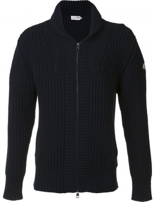 Moncler ribbed zip-up cardigan $865 thestylecure.com