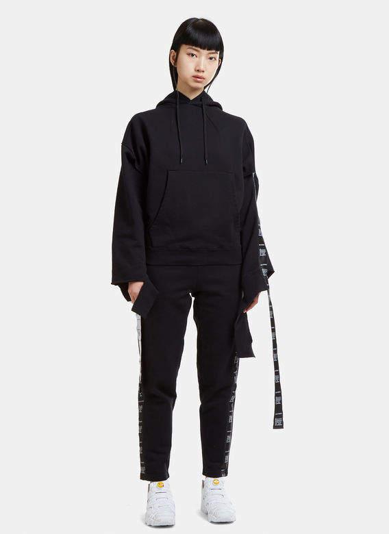 Wash Separately Deconstructed Hooded Sweatshirt in Black