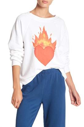 Wildfox Couture Burning Love Sweatshirt