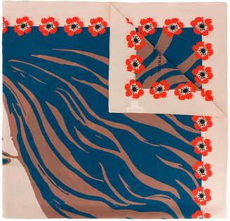 Sonia Rykiel face print square scarf