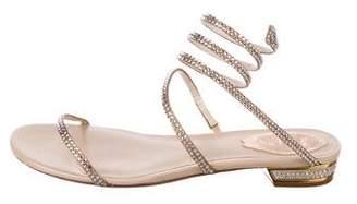Rene Caovilla Embellished Wrap-Around Strap Sandals