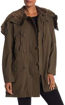 Vince Military Front Button Zip Jacket