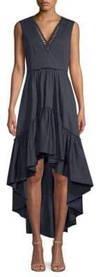 Elie Tahari Sondra High-Low Ruffle Dress