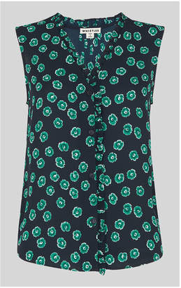 Whistles Maddie Lenno Print Frill Top