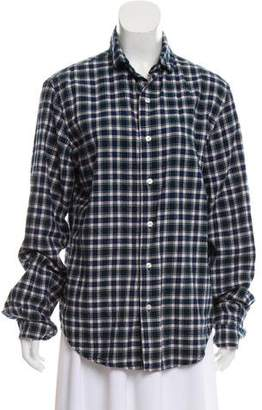 R 13 Long Sleeve Plaid Top