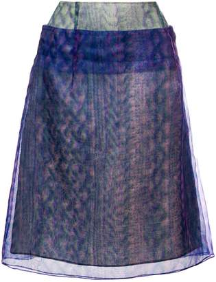 Maison Margiela optical illusion print layered skirt