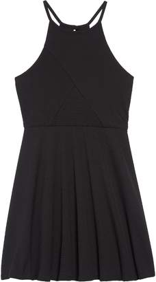 Zunie Textured Skater Dress