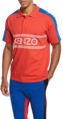 94f2d738 Kenzo Men's E Skate Colorblock Polo Shirt