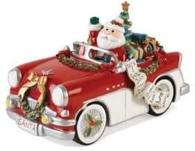 Fitz & Floyd Merry Bright Santa Musical Figurine