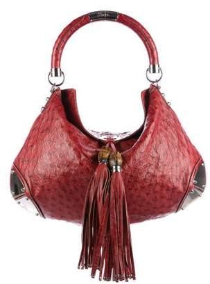60e8999f7f7 Gucci Ostrich Bag - ShopStyle