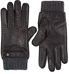 Christophe Fenwick CHRISTOPHE FENWICK MEN'S LE MANS CASHMERE-LINED LEATHER GLOVES-BLACK SIZE 8
