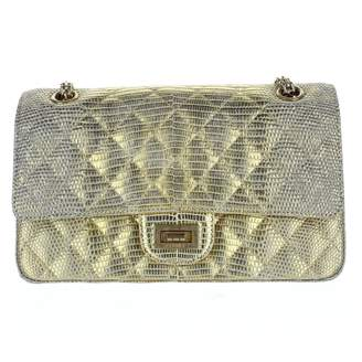 Chanel Timeless/Classique Gold Exotic leathers Handbags