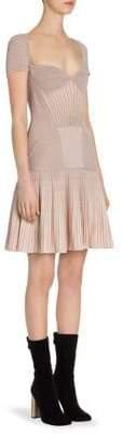 Alexander McQueen Rib-Knit Drop-Waist Dress