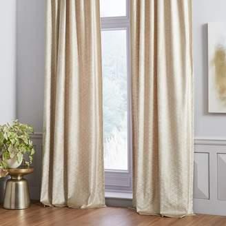 west elm Cotton Luster Velvet Floating Mosaic Curtain