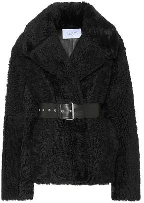 Common Leisure Love Short shearling jacket