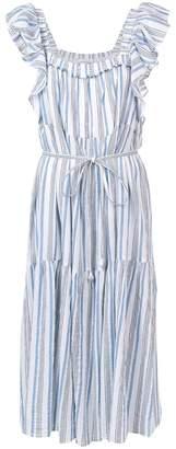 Apiece Apart ruffle sleeve striped dress