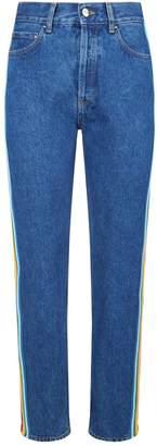 Palm Angels Rainbow High Waist Jeans