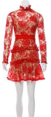 Nicholas Mesh Patterned Dress