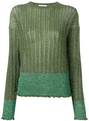L'Autre Chose two-toned lurex pullover