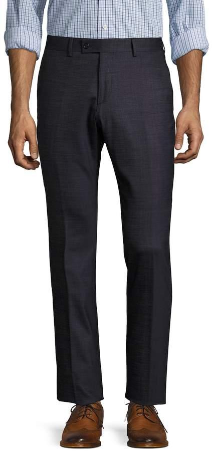 John Varvatos Men's Austin Wool Flat Front Trousers
