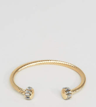 At Asos Designb London Bangle Cuff Bracelet In Gold Exclusive To