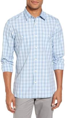 Nordstrom Trim Fit Washed Check Workwear Shirt