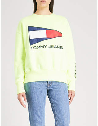 Tommy Jeans Logo-embroidered jersey sweatshirt