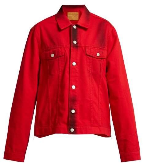 Side Zip Denim Jacket - Womens - Red