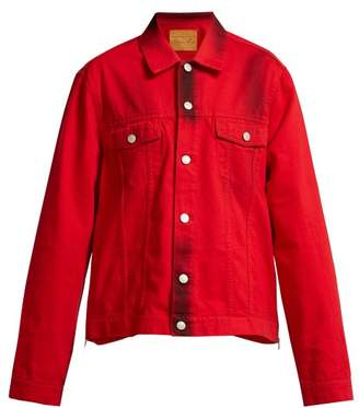 Martine Rose Side Zip Denim Jacket - Womens - Red