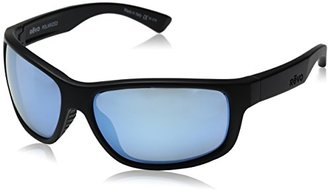 Revo Baseliner RE 1006 01 OR Polarized Wrap Sunglasses, Matte Black/Open Road, 61 mm $189 thestylecure.com