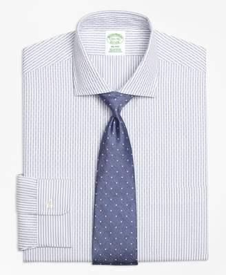 Brooks Brothers Milano Slim-Fit Dress Shirt, Non-Iron Dobby Candy Stripe