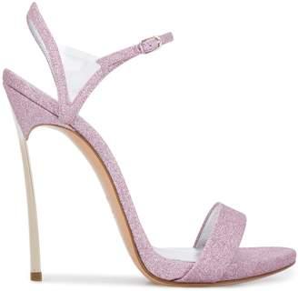 Casadei Blade v Celebrity glittered sandals