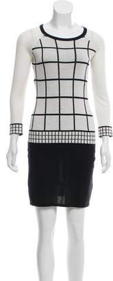 Trina Turk Knit Windowpane Dress