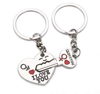 BRCbeads Key To My Heart Cute Couple/Love/Gift Keychain 80mm Long