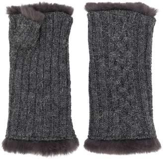 Agnelle cable knit fingerless gloves