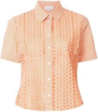 CK Calvin Klein embroidered gingham short sleeve shirt