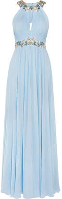 Marchesa Notte - Embellished Silk-chiffon Gown - Sky blue $1,240 thestylecure.com