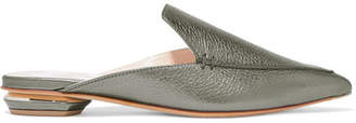Nicholas Kirkwood Beya Metallic Textured-leather Slippers