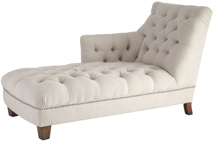 "Horchow ""Maddox"" Tufted Chaise"