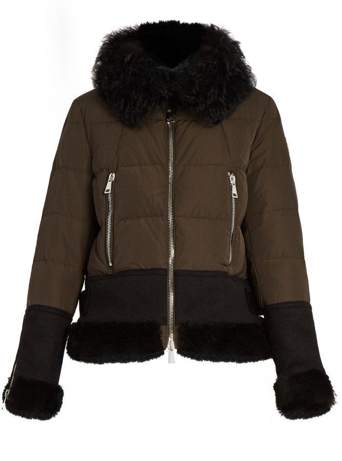 Moncler MONCLER Kikilia water-repellent fur-trimmed down jacket