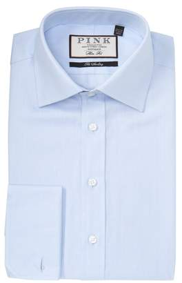Thomas Pink Timothy Herringbone Slim Fit Dress Shirt