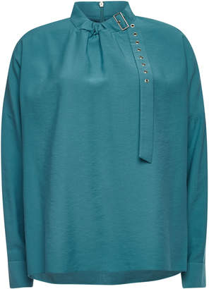 Tibi Blouse with Buckled Collar